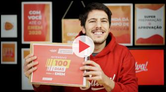 Imagem capa do vídeo com Prof. Corleta falando sobre o Intensivo 100 Dias ENEM 2020