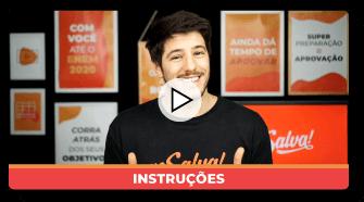 Imagem capa do vídeo com o professor Corleta ao centro vestindo uma camiseta preta com o logo do Me Salva!