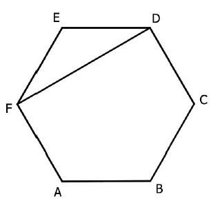 Resultado de imagem para hexagono regular ABCDEF