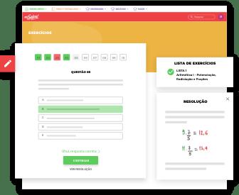Imagem da Interface da Plataforma de Exercícios