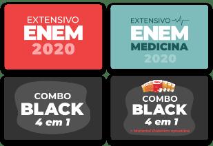 Extensivo ENEM 2020   Extensivo ENEM Medicina 2020   Combo Black 4 em 1   Combo Black 4 em 1 + Apostilas