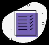 Imprima as provas<br/> ou faça online