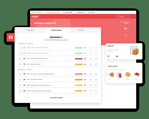 Imagem da Interface do Plano de Estudos